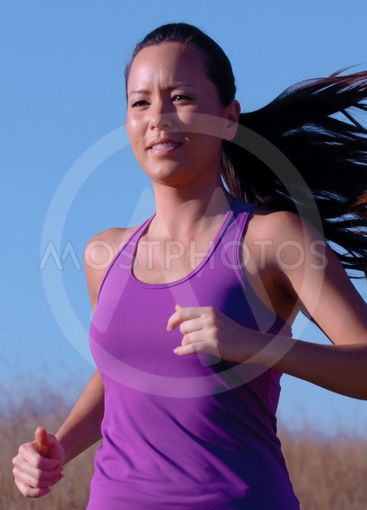 Jogger in Purple Top