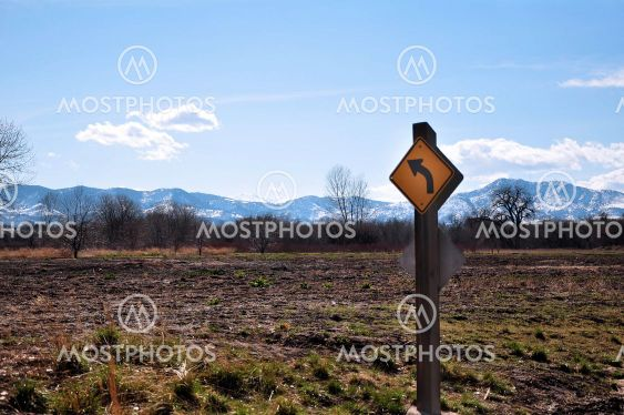 Sign and Rocky Mountains