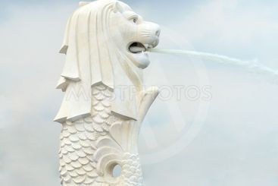 Merlion statue, Singapore.