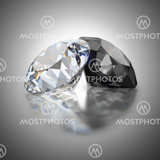 white and black diamond
