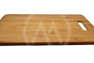 Wooden kitchen board isolated on white