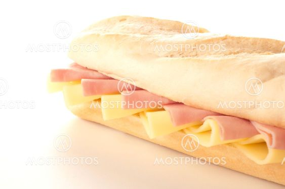delicious sandwiches of cheese and ham