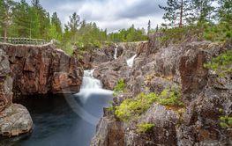 Litet vattenfall intill Storforsen, Vidsel