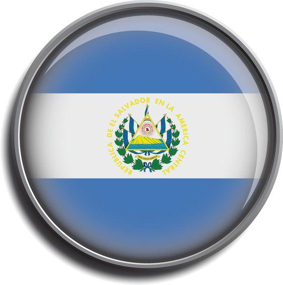 flag icon web button el salvador