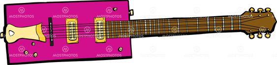 Single Rectangular Electric Guitar