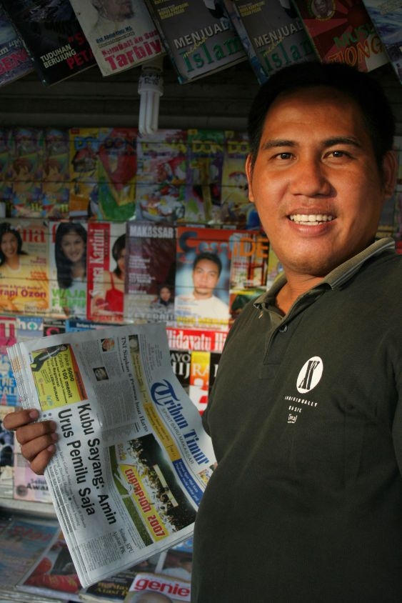 newspaper seller
