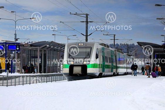 Passengers Boarding Pendolino Train