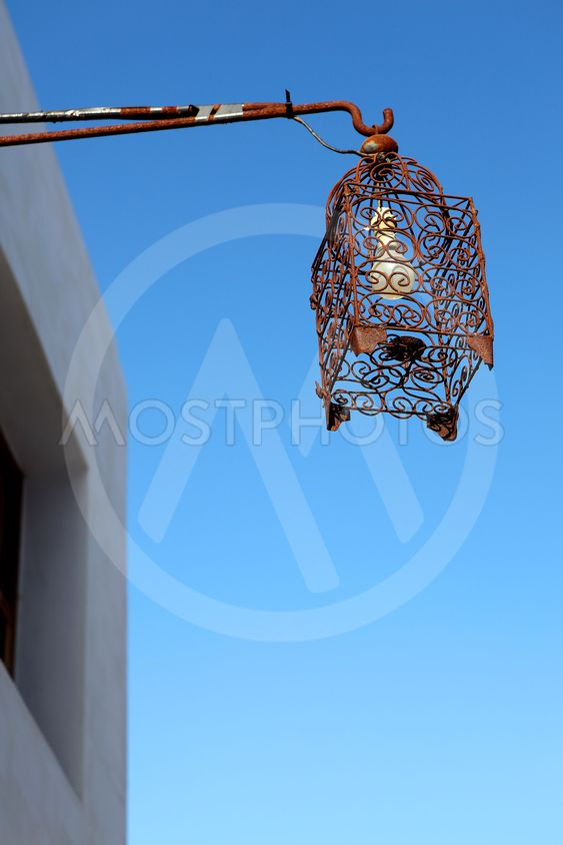Street lamp in Morocco