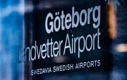 Skylt Göteborg Landvetter Airport - Silvertid