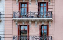 Interesting balconies from Barcelona in Spain