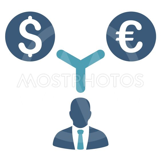 Currency Manager Flat Vector Icon
