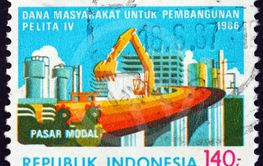 Postage stamp Indonesia 1991 construction