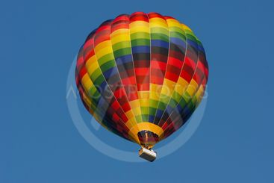 Hotair balloon with clear blue sky