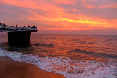 Sunset at Galle Face beach, Colombo, Sri Lanka