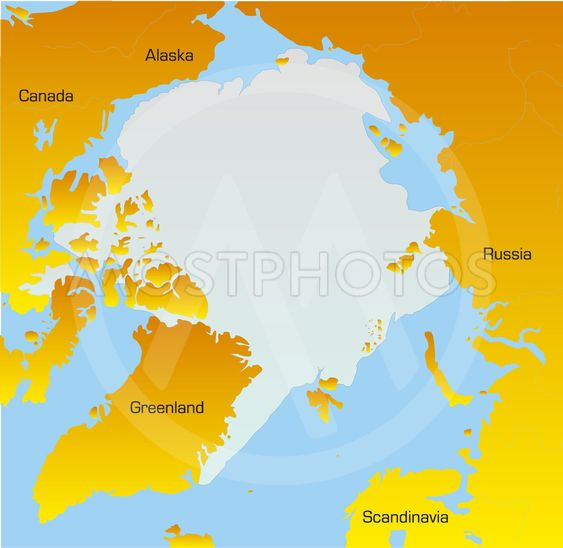 Map Of North Pole By Olinchuk Mostphotos