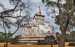 Ancient City pagoda ruins in Polonnaruwa city temple Sri...