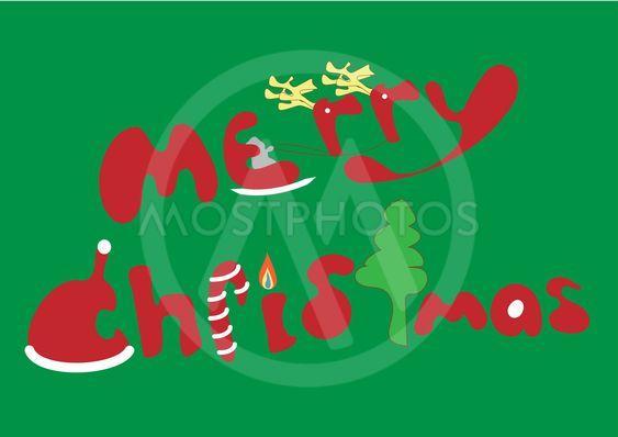 Font Design Word Merry Chri By Jtas Mostphotos