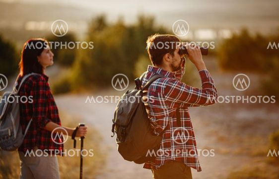 Portrait of happy young couple having fun on their...