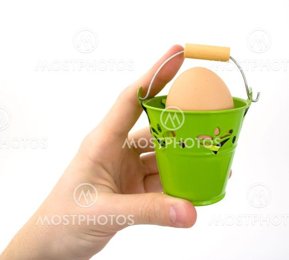 Hand with basket