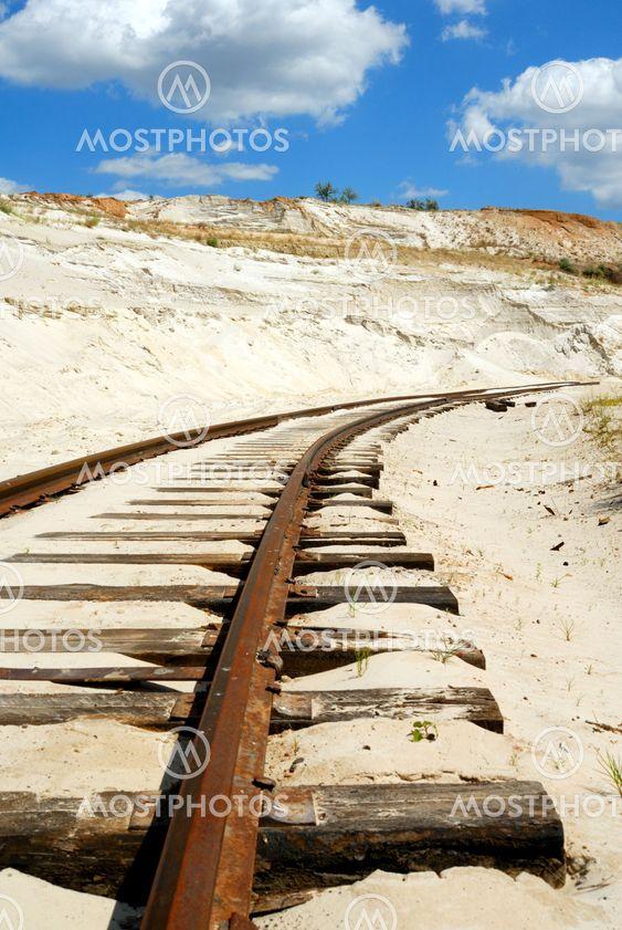 Gamla rostiga järnväg