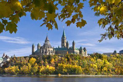 Parliament in Fall