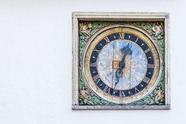 Old wooden clock Tallinn, Estonia
