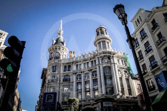 street, Image of the city of Madrid, its characteristic...