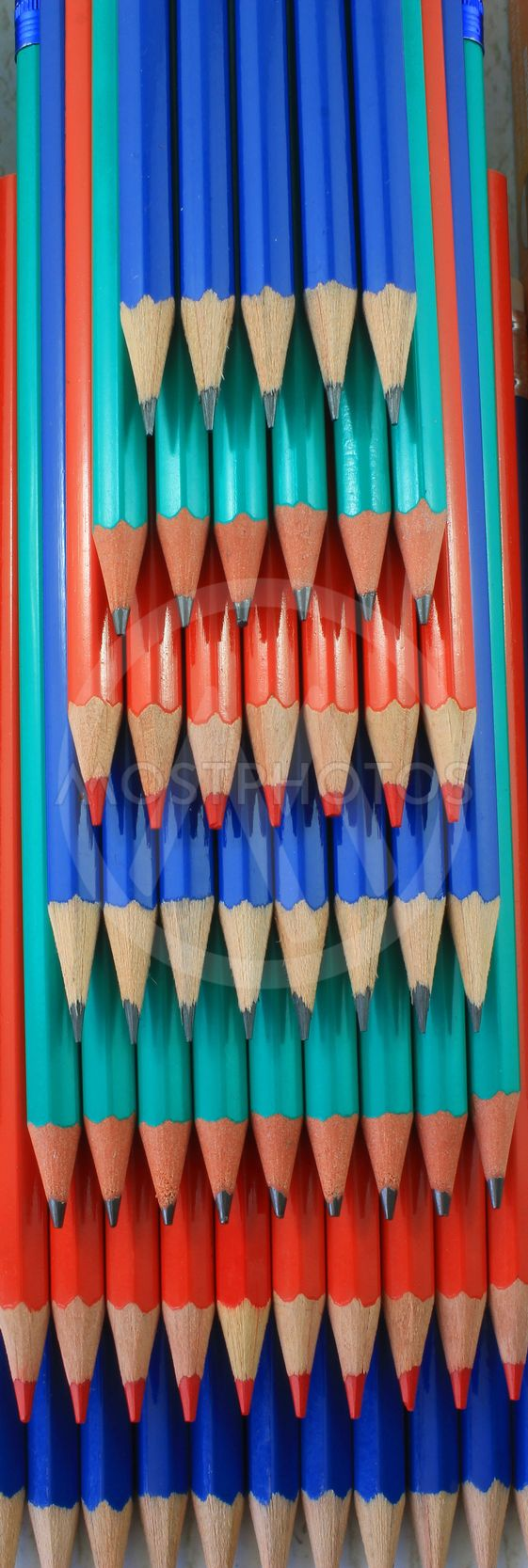Stacked Colored Pencils