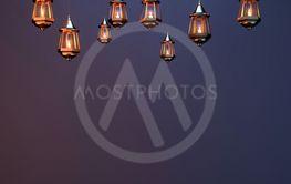 Illuminated Arabic Lantern