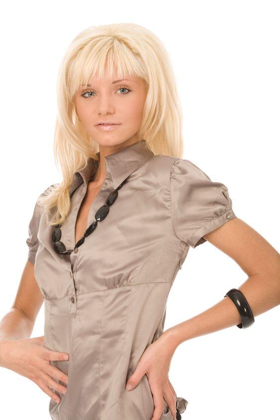 blond kvinna