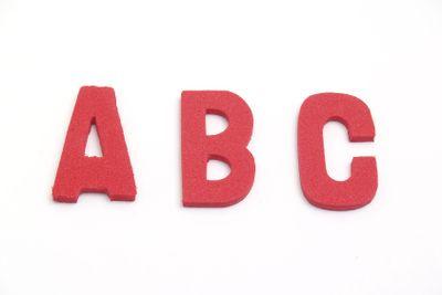 rubber letters