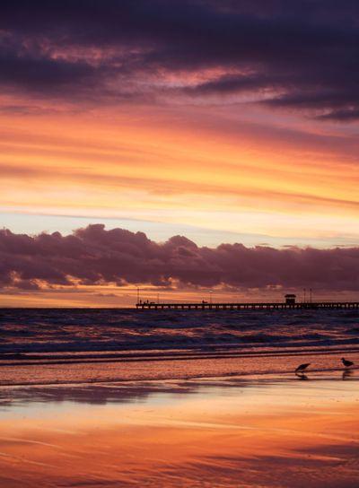 Purple and Orange Sunset Over the sea