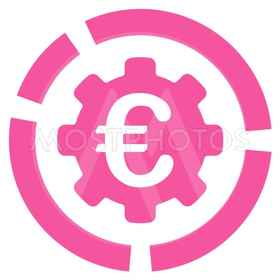 Euro Diagram Configuration Flat Glyph Icon