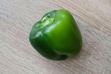 Fresh green sweet pepper