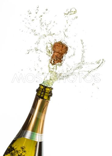Bottle of champagne popping