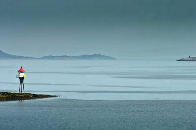 Land marker buoy in norway sea