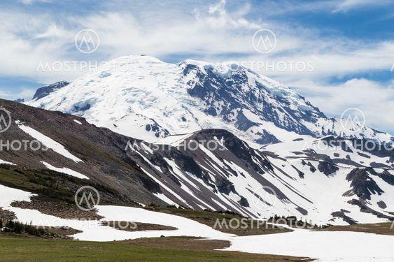 The north face of Mt. Rainier