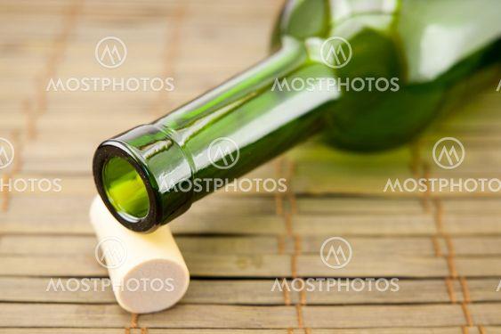 empty wine bottle with cork
