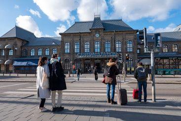 Entrance of central station in Gothenburg, Sweden.