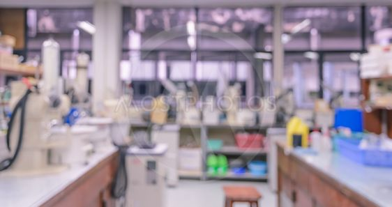 Blurred abstract background of laboratory interior...