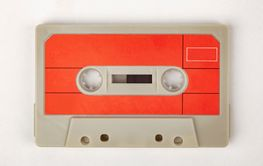 Audio Tape with red Label