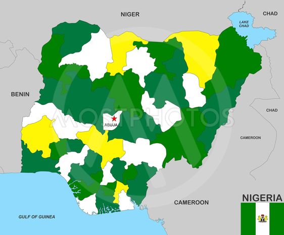 Nigeria Kort Fra Tudor Antonel Adrian Mostphotos