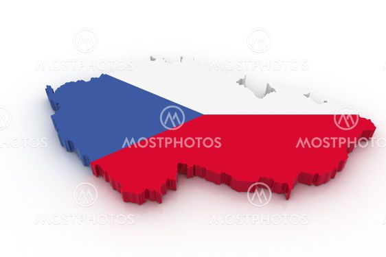 Kort Over Tjekkiet Fra Cofkocof Mostphotos