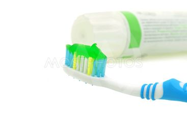 Dental care Toothbrush and toothpaste tube
