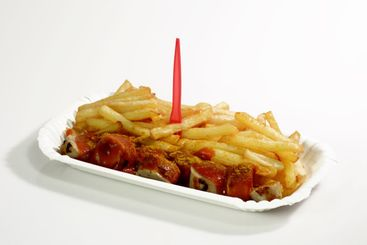 Sausage with fries