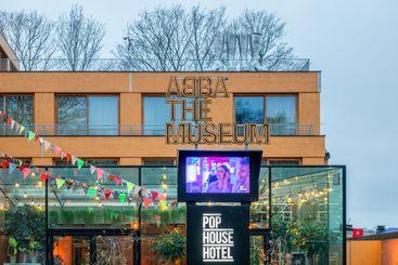 Entren till Abba museet på djurgården i stockholm.