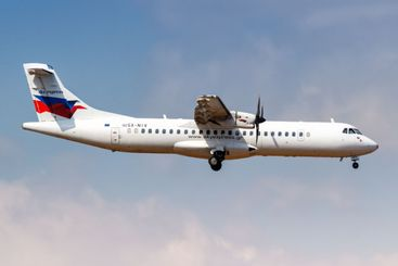 Sky Express ATR 72-500 airplane Athens Airport in Greece