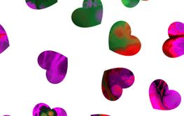 Hearts in fractal style