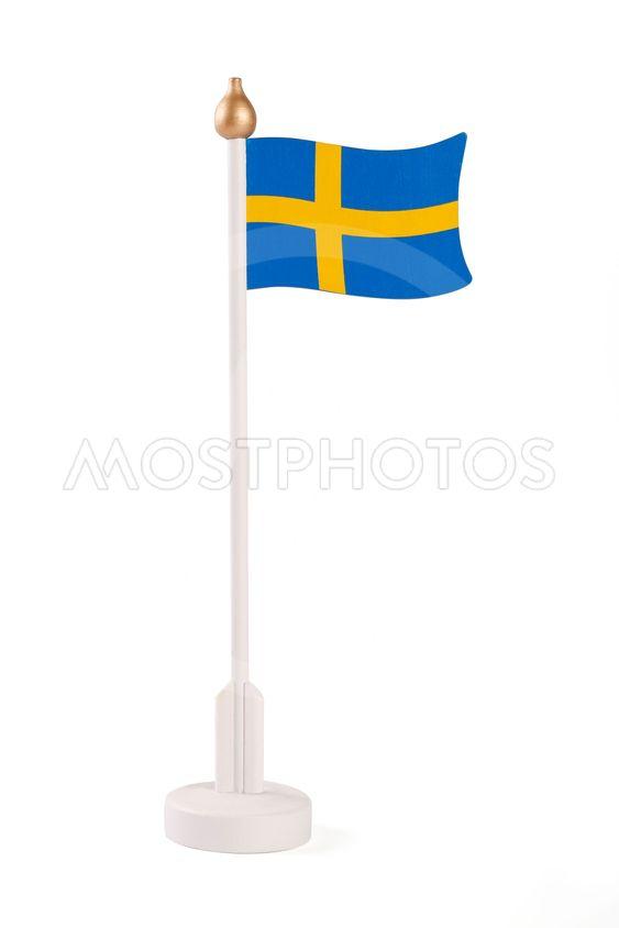 Flagga på  pinne