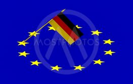 Flags, Germany and European Union